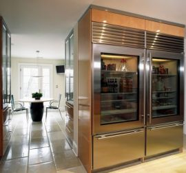 Giant-glass-front-refrigerator-offers-ample-storage-space